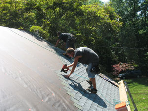 Smart Care Exteriors replacing roof in Easton